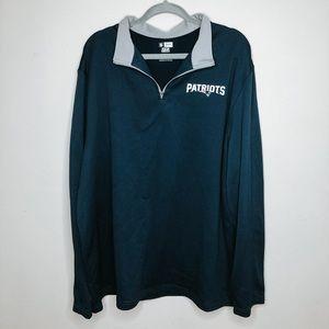 New England Patriots Half Zip NFL Sweatshirt